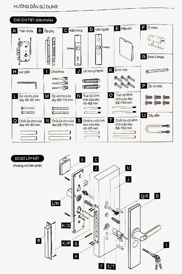 Hướng dẫn lắp đặt khóa cửa thông minh Wifi AppotaHome AN1 1
