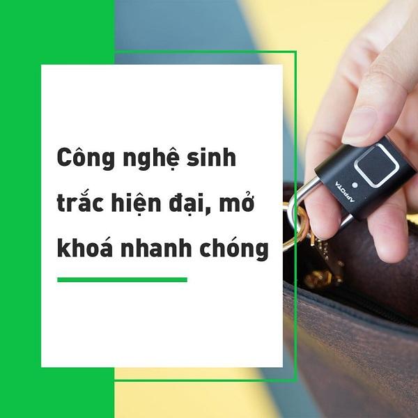 Tất tần tật về khóa vân tay đa năng AM1, ổ khóa mini thông minh (5)