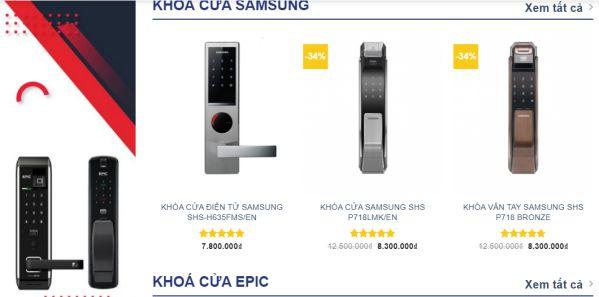 Các hệ thống bán lẻ khóa cửa thông minh vân tay uy tín tại HN, HCM 4