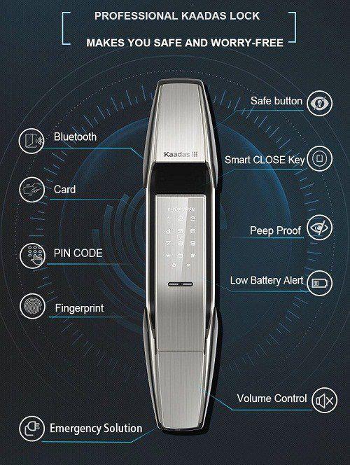Các mẫu khóa cửa thông minh vân tay giá tốt nhất giữa năm 2020 5