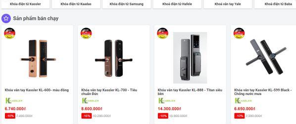 Tổng hợp các website bán khóa cửa thông minh giá rẻ nhất hiện nay 3