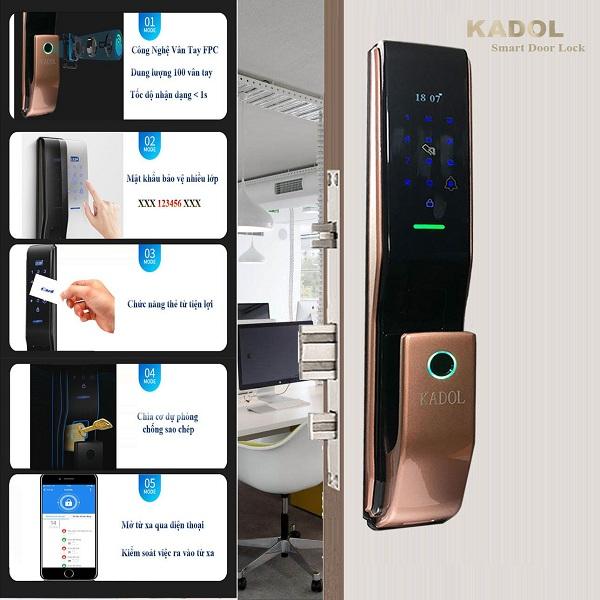 Những mẫu khóa cửa vân tay Kadol bán chạy nhất hiện nay (1)