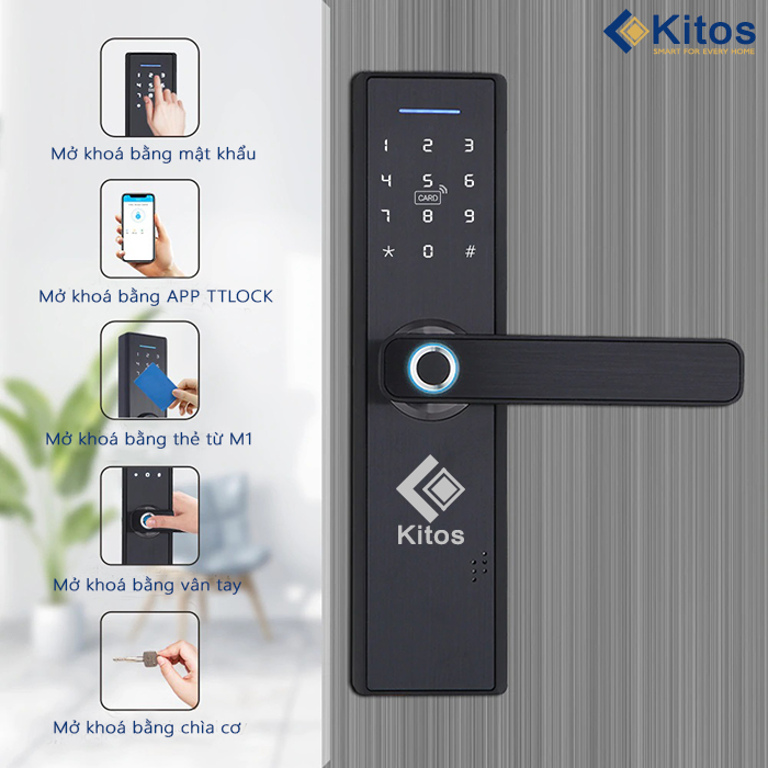 Các mẫu khóa cửa thông minh phong cách hiện đại nhất hiện nay 2