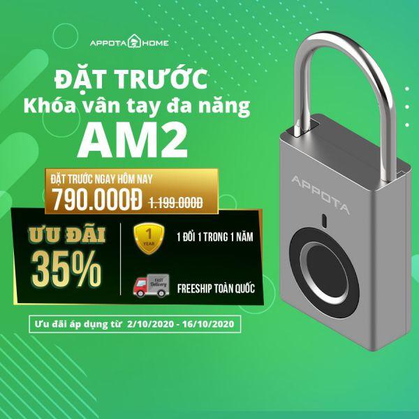 AppotaHome chính thức ra mắt sản phẩm khóa vân tay đa năng AM2 3