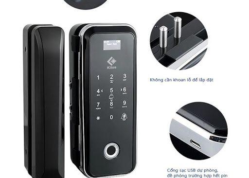 Top 5 khóa điện tử dùng vân tay cho cửa kính giá rẻ đáng sử dụng nhất 1